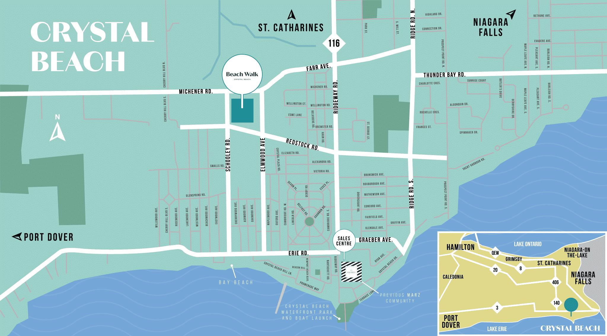 Image of the Beachwalk map